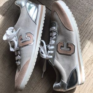 Coach Suede & Silver Sneakers Preloved!